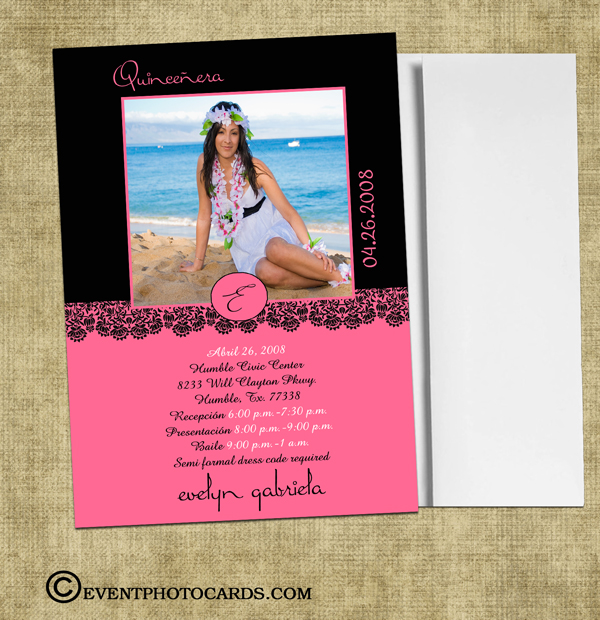Unique Quinceanera Moderne Invitations