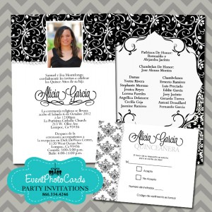fe7f8f8030 A san Diego quinceanera requested we design a simple black and white  design. She had in mind a chanel party