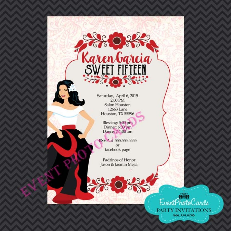 Scroll Quinceanera Invitations with great invitations design