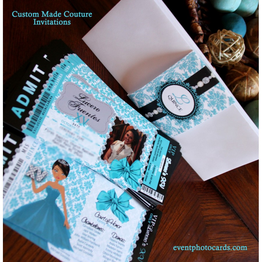 quince invitaciones for breakfast at tiffany