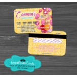 Personalized Arabian Geenie in Bottle -  Credit Card