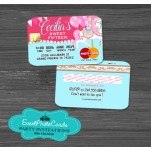 Carousel Qnceanera Invitations- Credit Card Style