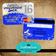 Bling Royal Blue  Sweet 16 - Credit Card