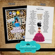Ipad Cheetah Quinceanera Invitations