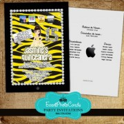 Ipad Lover Sweet 15 Yellow & Black
