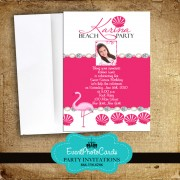 Pink Seashell Quinceanera Invitations
