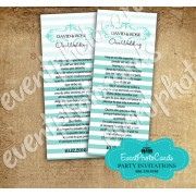 Wedding Couture Teal Bookmark Quinceanera