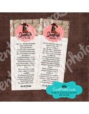 Western Pink Floral  Bookmark Quinceanera
