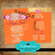 Orange Quinceanera Invitations - Elegant