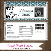 Breakfast at Tiffany  - Quinceanera Candy Wrapper