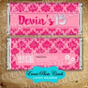 Quinceanera Candy Wrapper - Sweet 15