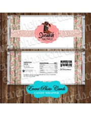 Western Floral Pink Quinceanera Candy Wrapper