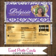 Gold Purple Candy Wrapper