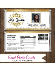 Gold Quinceanera  - Quinceanera Candy Wrapper