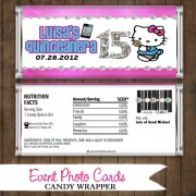 Hello Kitty Quinceanera  - Candy Wrapper