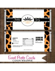 Leopard Princess  - Quinceanera Candy Wrapper