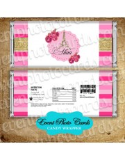 Paris Pink Gold Candy Wrapper