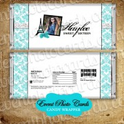 Paris Teal Silver Candy Wrapper - Photo