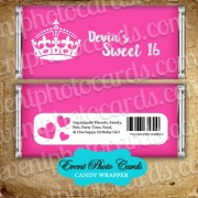 Princess Crown  Quinceanera Candy Wrapper