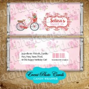 Pink Romantic Floral Quinceanera Candy Wrapper - Sweet 15
