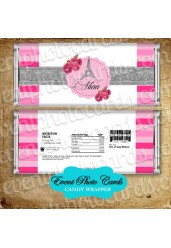 Paris Pink Silver Candy Wrapper