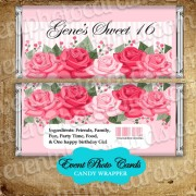 Roses Pink Candy Wrapper - Sweet 16