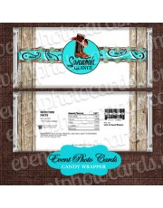 Boots Rustic Aqua Candy Wrapper