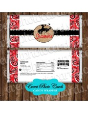 Western Red Bandanna Quinceanera Candy Wrapper