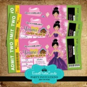 Candyland Ticket Sweet 15 Invitations