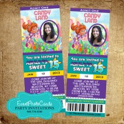 Candyland Quinceanera Invitations 2