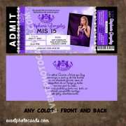 Juicy Couture Invitations - Purple