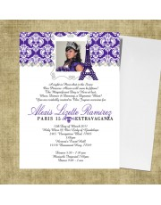 Paris Quinceanera Invitations - Purple