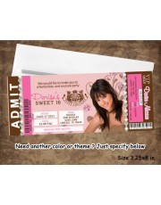 Juicy Couture Sweet 16 Invitation Ticket