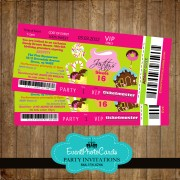 Candyland Ticket Invitations - Mis Quince Anos