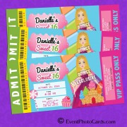 Candyland Ticket Sweet 16 Invitations