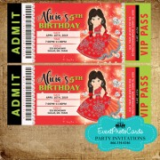Charro themed quinceanera invitations - Red & Silver