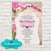 Mexican Style Western  Quinceanera Invitations