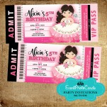 Floral Charro Western Quinceanera Invitations - Ticket