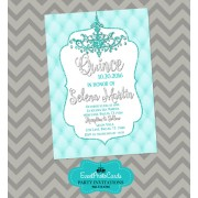 Turquoise Aqua Quinceanera Invitations