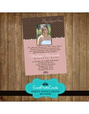 Loui Vitton Inspired Photo Invitations