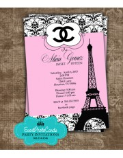 Paris Chanel Quinceanera Invites  Inspired Not actual