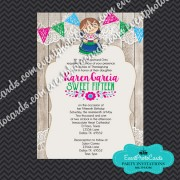 Mexican Invitations Quinceanera -Lace