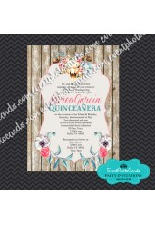 Charro Quinceanera Invitations