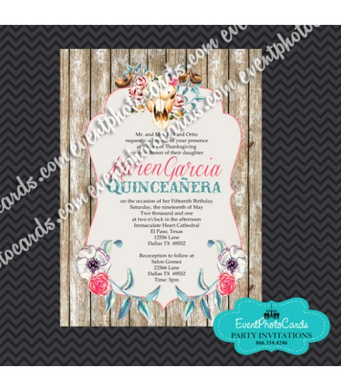 Charro Quinceanera Invitations, Quinceanera Invitations , Sweet 15th Announcements