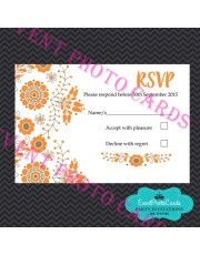 Mexican Embroidered  RSVP -Orange