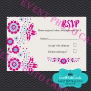 Mexican Embroidered  RSVP - Pink