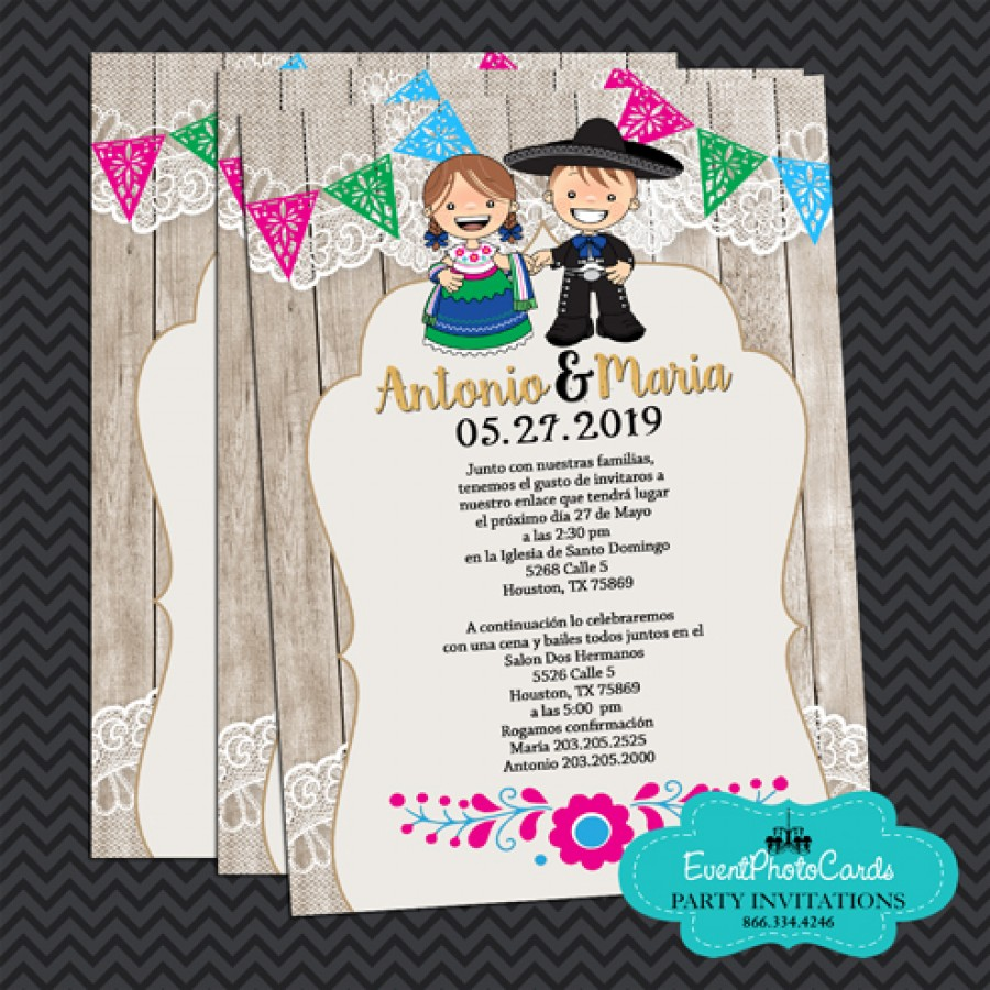 Mariachi Wedding Invitations Vaquero Wedding Invitations