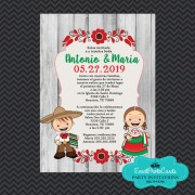 Mexican Traditional Wedding Invitations