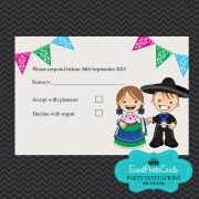 Mariachi Wedding Invitations - Matching RSVP