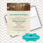 Western Rustic  Sweet 15th Invitations